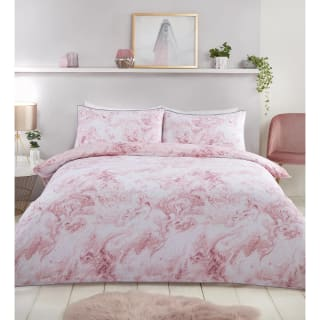 Loft Studio Marble King Duvet Set - Blush