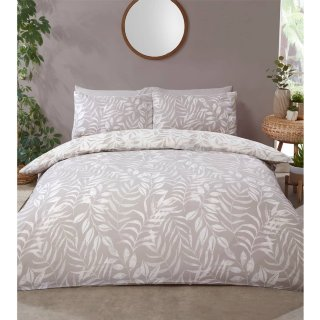 Home & Co Leaf King Duvet Set - Natural