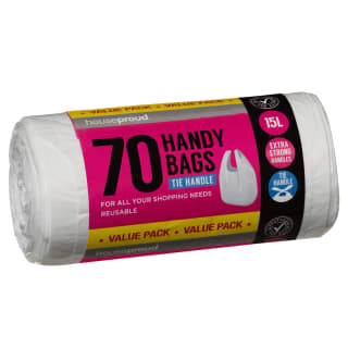 Houseproud Handy Bags 70pk 15L