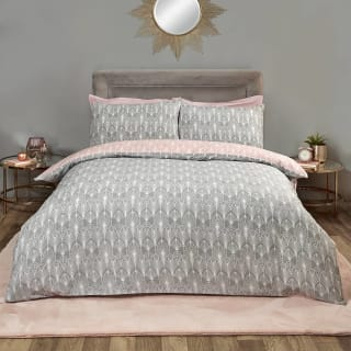 Home & Co Art Deco King Duvet Set - Grey