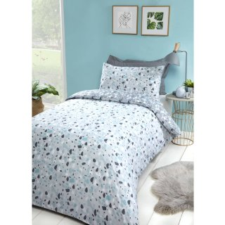 Loft Studio Terrazzo Single Duvet Set - Blue