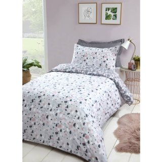 Loft Studio Terrazzo Single Duvet Set - Blush