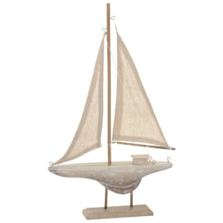Nautical White Boat Ornament