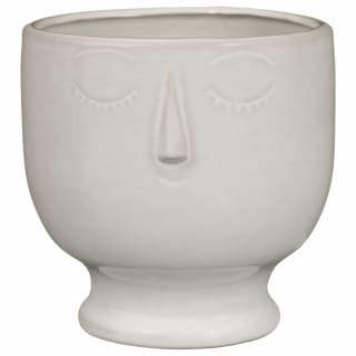 Large Ceramic Face Planter
