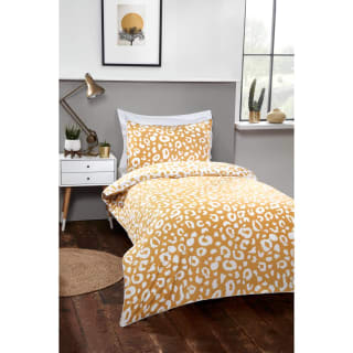 Loft Studio Leopard Single Duvet Set - Ochre