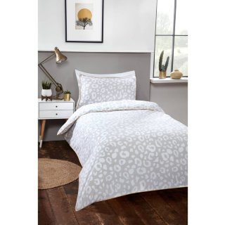 Loft Studio Leopard Single Duvet Set - Natural