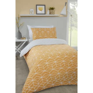 Loft Studio Geo Single Duvet Set - Ochre