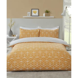 Loft Studio Geo King Duvet Set - Ochre