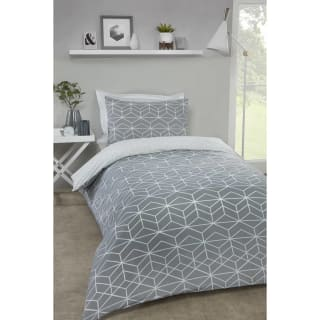 Loft Studio Geo Single Duvet Set - Grey