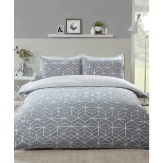 Loft Studio Geo King Duvet Set - Grey