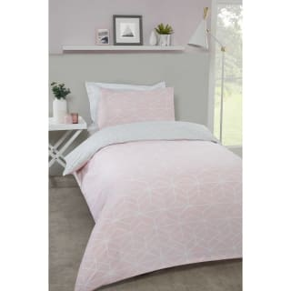 Loft Studio Geo Single Duvet Set - Blush