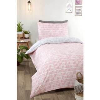 Loft Studio Mika Single Duvet Set - Blush