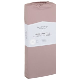 Love to Sleep Cotton King Size Fitted Sheet - Blush