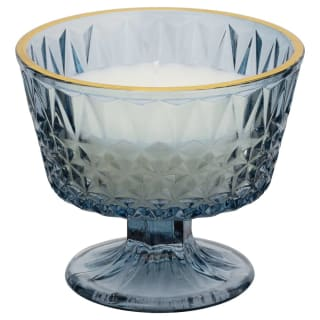 Floral Garden Scented Candle in Glass Holder - Fresh Linen