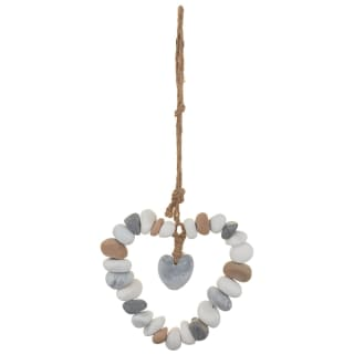 Hanging Pebble Heart