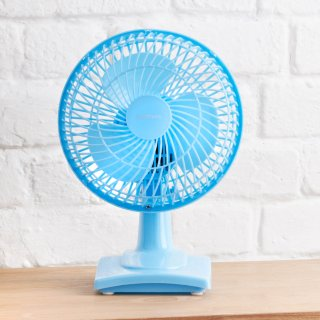 "Goodmans 6"" Desk Fan - Blue"
