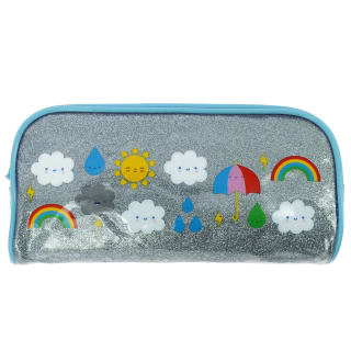 Oh Ok Sunshine Pencil Case - Blue
