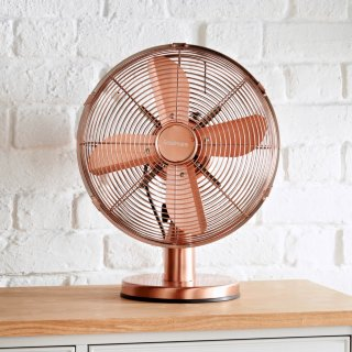 "Goodmans 12"" Copper Desk Fan"
