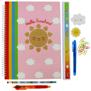 Oh Ok Sunshine Large Stationery Set 11pk - Hello Sunshine