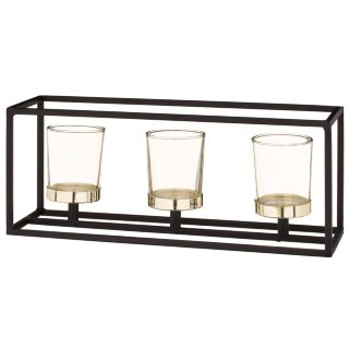 Black & Gold Tealight Candles Holder