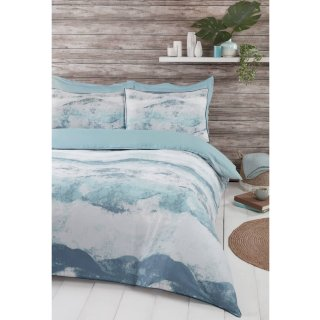 Home & Co Carmen Wave Double Duvet Set - Blue