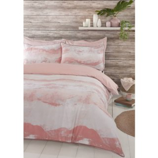 Home & Co Carmen Wave King Duvet Set - Blush