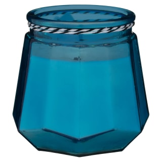 Nautical Glass Candle - Blue