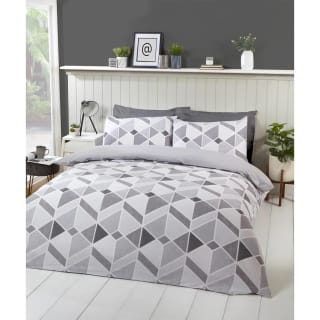 Geo Twin Pack King Duvet Set - Grey