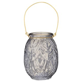 Glass Candle Holder - Grey