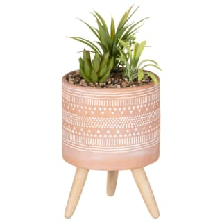 Artificial Plant in Aztec Pot