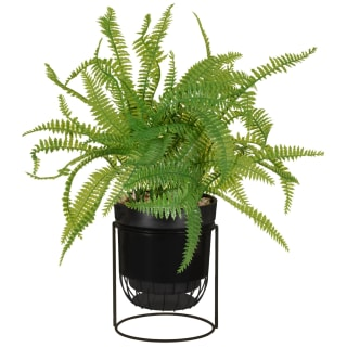 Artificial Fern in Black Stand