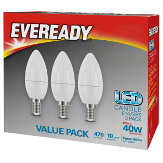 Eveready 40W E14 Candle Bulb 3pk