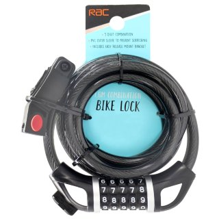 RAC 1.8m Combination Bike Lock