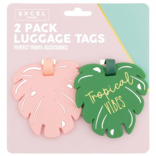 Luggage Tags 2pk - Tropical Vibes