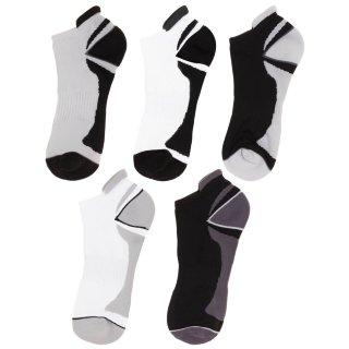 Ladies Active Sports Socks 5pk - Black