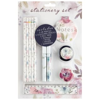 Stationery Set 16pc - Floral