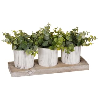 Artificial Plants in Marble Pots