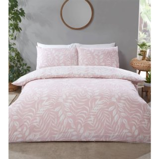 Home & Co Leaf King Duvet Set - Blush