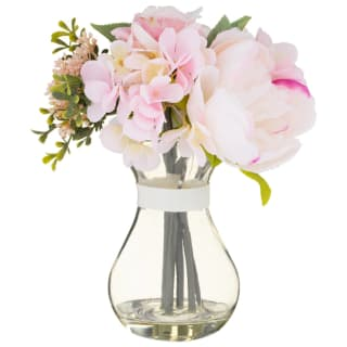 Blush Flower Arrangement in Glass Vase