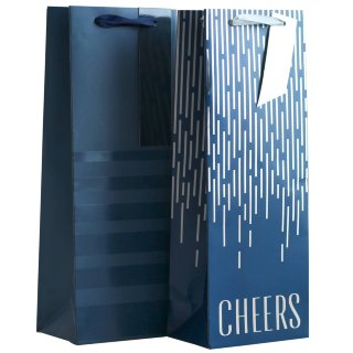 Bottle Gift Bag 2pk - Blue