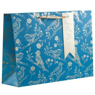 Luxury Shopper Gift Bag - Birds