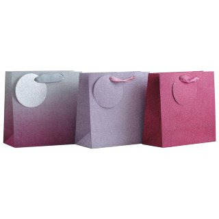 Glimmer Gift Bags 3pk - Pink