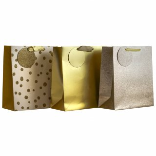 Luxury Gift Bag 3pk - Gold