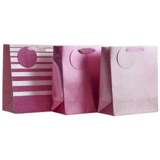 Luxury Gift Bag 3pk - Pink