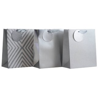 Luxury Gift Bag 3pk - Silver