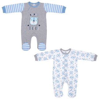 Baby Boy Sleepsuits 2pk - Lion
