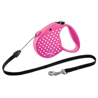 Small Flexi Dog Lead 5m - Pink