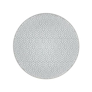Grey Embossed Side Plate 7.5""