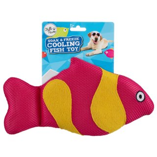 Soak & Freeze Cooling Fish Toy - Red