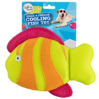 Soak & Freeze Cooling Fish Toy - Yellow